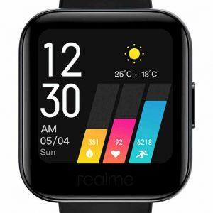 ساعة ريلمي ذكية مع قياس نسبة الأوكسيجين في الدم – أسود