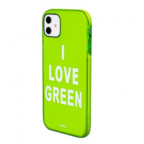 جراب أيفون تصميم I Love Green أنيق