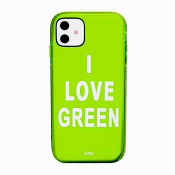 جراب أيفون تصميم I Love Green...
