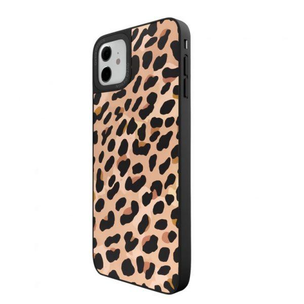 جراب أيفون تصميم Tiger زجاجي
