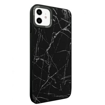 iPhone Cover Black Marble Glassy Design