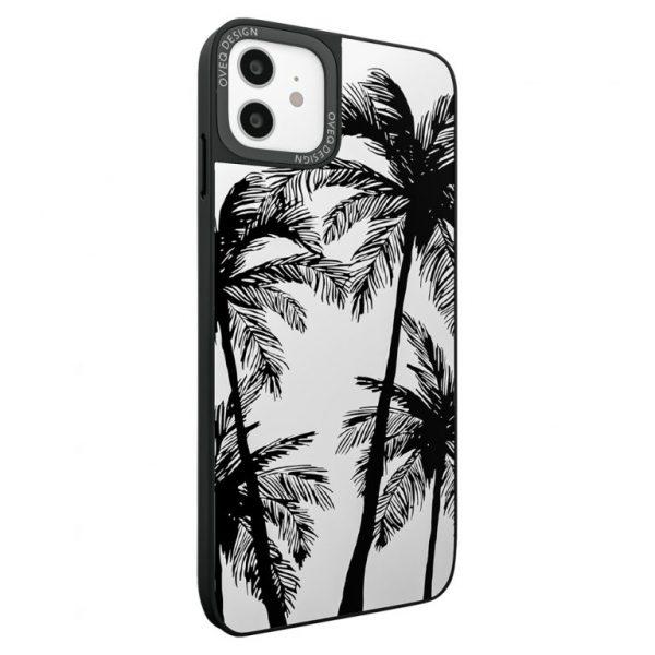 جراب أيفون تصميم Palms زجاجي