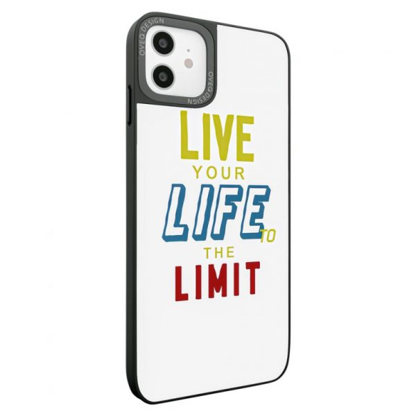 جراب أيفون تصميم Live To The Limit زجاجي