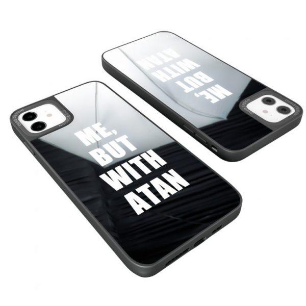 جراب أيفون تصميم Tan زجاجي