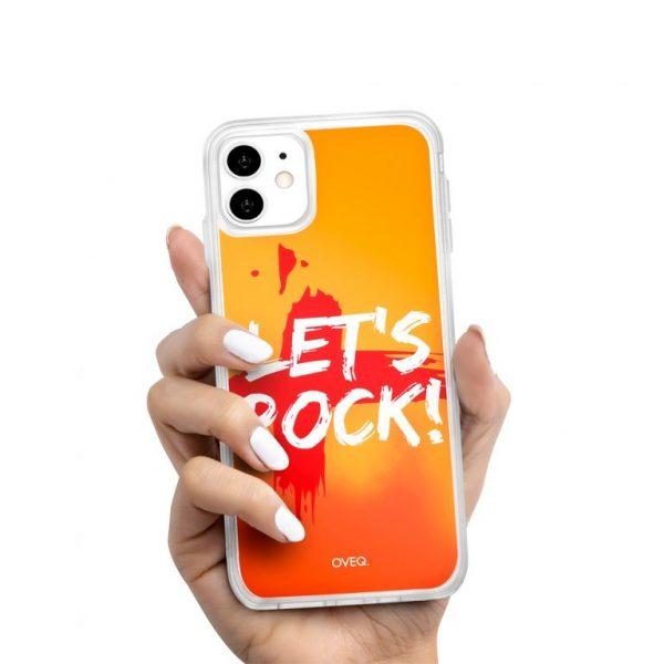 جراب أيفون تصميم Let's Rock لامع