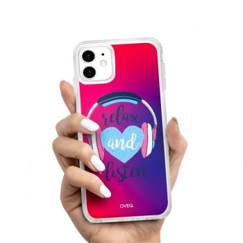 iPhone Cover Relax & Listen Glow Design