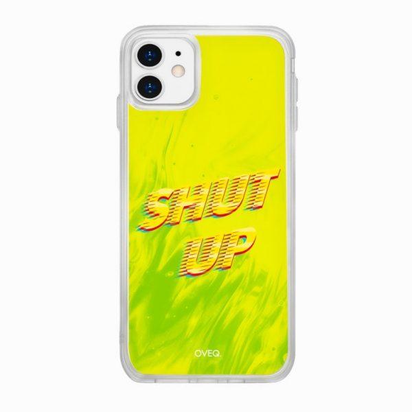 جراب أيفون تصميم Shut-Up لامع