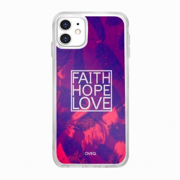 جراب أيفون تصميم Faith Hope Love...