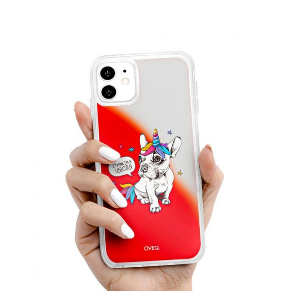 جراب أيفون تصميم Unicorn لامع