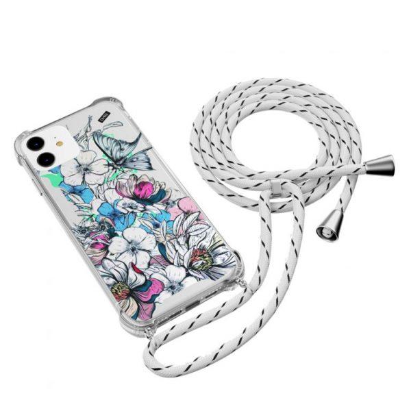 جراب أيفون تصميم Floral معلق