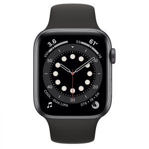 ساعة أبل Series 6 Aluminum Case 44mm GPS – Space Gray
