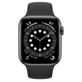 ساعة أبل Series 6 Aluminum Case 44mm GPS – Space Gray