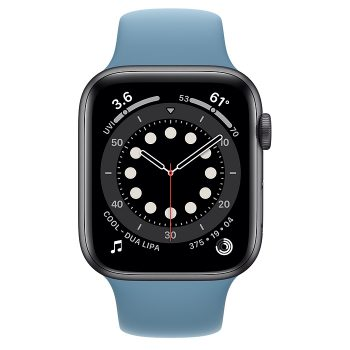 ساعة أبل Series 6 Aluminum Case 44mm GPS – Blue