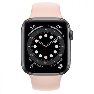 ساعة أبل Series 6 Aluminum Case 44mm GPS – Pink
