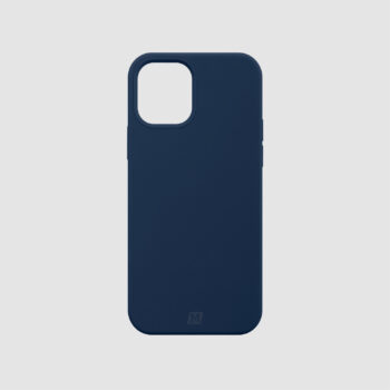 Momax Silicone Case (Anti-Bacterial) for iPhone 12 – Blue