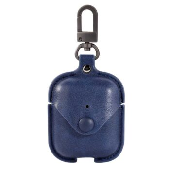 Leather Case Suit for AirPods – Blue